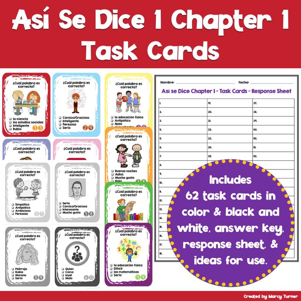 spanish task cards